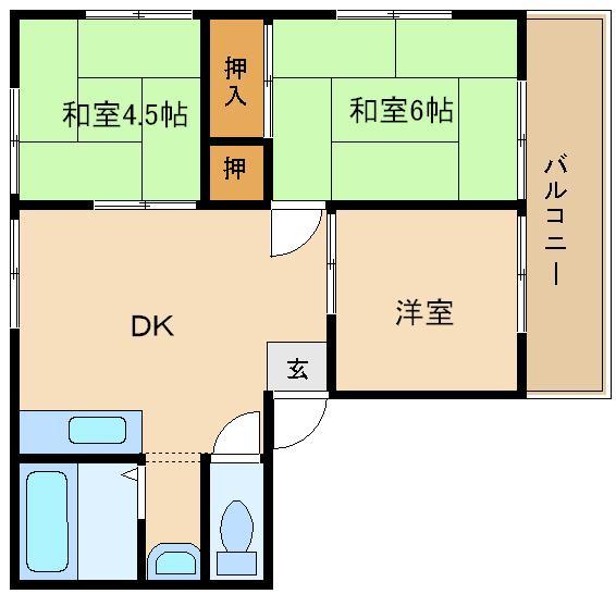 ペットOK♪個々のお部屋も広々です☆ まだまだ綺麗ですよ☆  サンライフ碓井