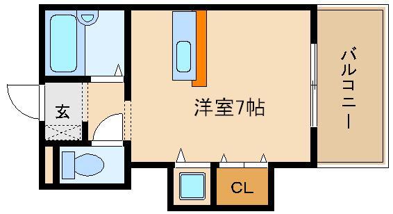 カウンターキッチン 室内洗濯パン  ラ・シャンブル松原
