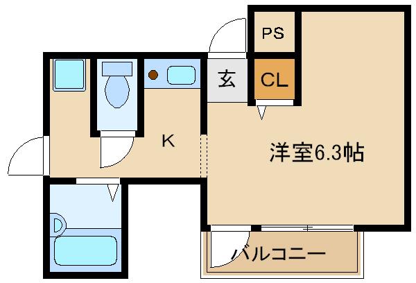藤井寺駅近物件!!レディースマンション! オートロック付きです♪♪  坂本ビル 2A