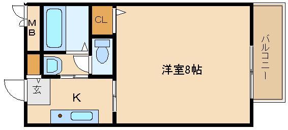 洋室広々♪脱衣室に独立洗面台も完備!! 脱衣所付き。ガスキッチン。。  ヴィラソレイユ