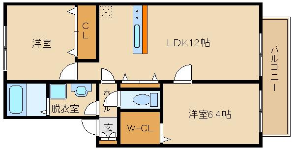 2009年築の築浅の2LDKです!! 追炊き・浴室乾燥など設備充実です!!  シャーメゾン フォンテーヌ