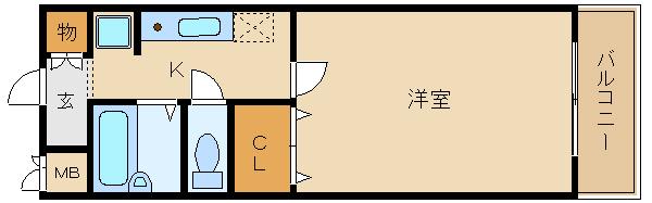 藤井寺駅近くのレディース物件!ネット無用。 H30.3月入居、相談可。セパレート☆  プランドール春日丘