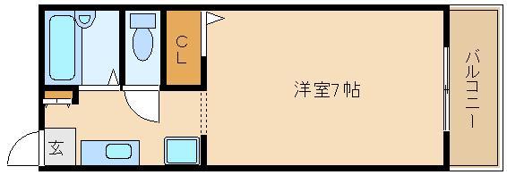 洋室も7帖と広く使えますね(^0^) おすすめセパレート物件です!!  ラルゴ藤井寺