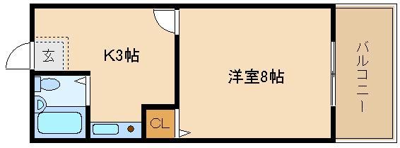 女性専用マンション♪♪ 洋室8帖の広々お部屋!!  スタンドアップ羽曳野