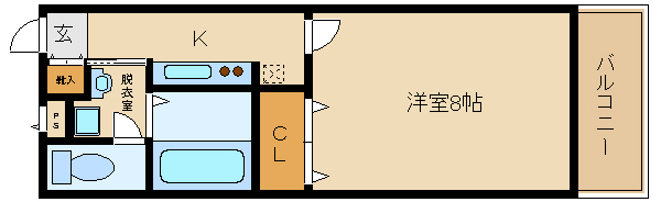 洋室8帖!! 2口キッチン!! 日当たりもGppd♪ 独立洗面台・浴室乾燥もついてます☆  アンプルールフェールリアライフ�U