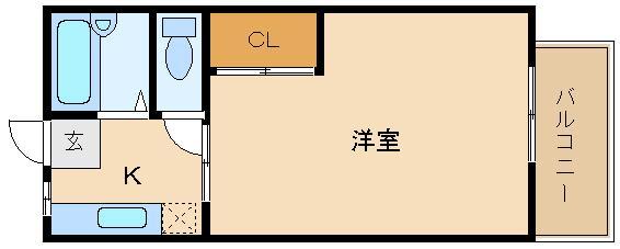 阪南大生さんにオススメ! お風呂とトイレが別々、収納付き!  サンシティー天美参番館
