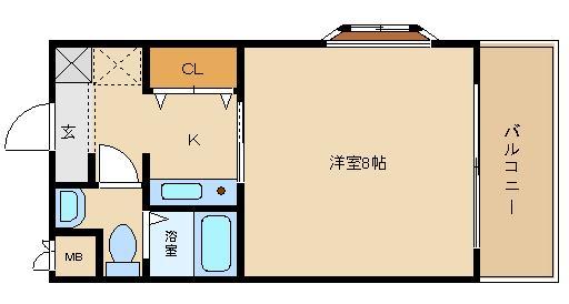 藤井寺駅近の単身物件です!! 独立洗面台付きのセパレートです!!  エスポワールなつめ