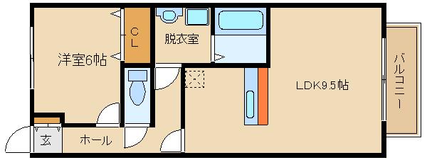 藤井寺駅近の1LDK♪ネット(Wi-Fi)無料!! 浴室乾燥・カウンターキッチン☆  クレールヒルズ