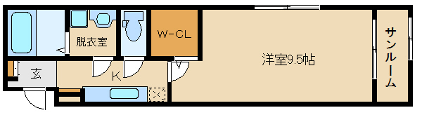★新築★洋室広めでオススメです!! 敷金・礼金0円ですよ(^0^)  ミニョン ドミール
