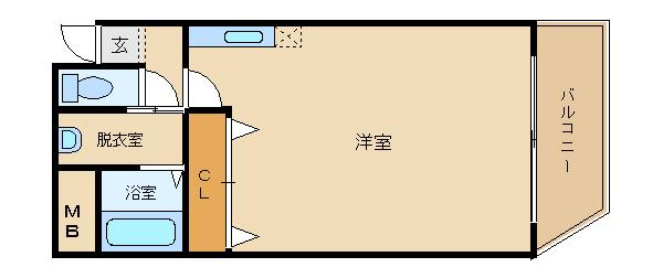 洗面台付き エレベータ有  かつらマンション