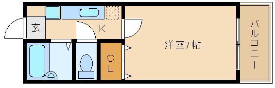 布忍駅 ウオッシュレット付き1K  清水ハイツ