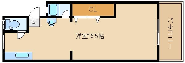 築年数は経ちますが広〜い部屋です♪   羽曳山第2サンハイツ