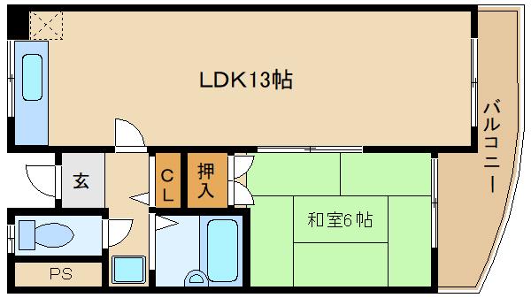 LDK13帖  駅近物件 周辺も便利 藤井寺市 駅近1LDKマンション   聖和マンション壱番館
