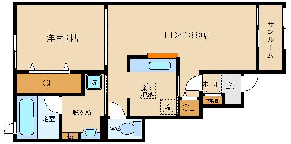 3口ガス 対面式キッチン ネット無料 駅徒歩圏内!! 設備も充実!!  ヴィラ・みやび野