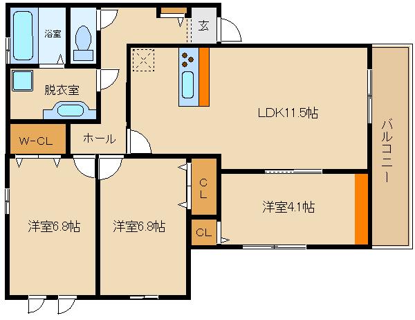 D-room新築物件★ IH3口システムキッチン♪  仮称)D-room古室3丁目