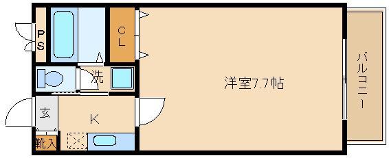 脱衣室もある、洋室広々な1K物件です(^0^) 単身向けハイツです!!  ポポラーレ