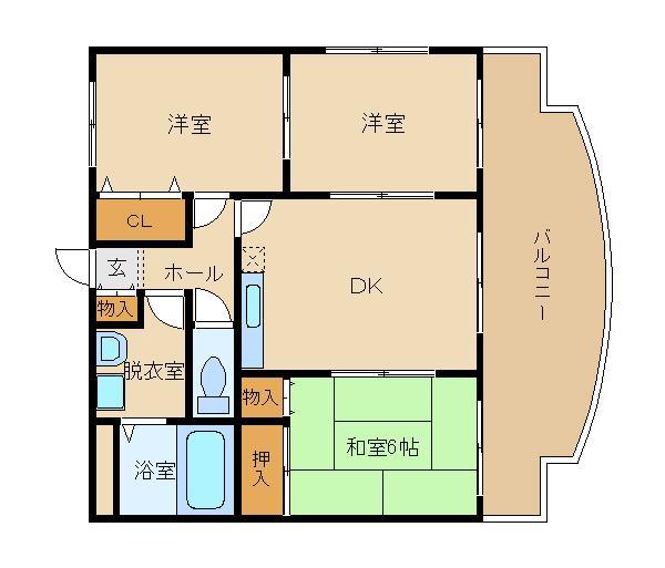 駐車場込みで6.5万円!買い物便利な環境です。 生活しやすい立地で人気☆  エスパシオ�T