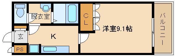 高見ノ里駅 広々洋室9.1帖です。。。  メゾン ラ・フィーネ