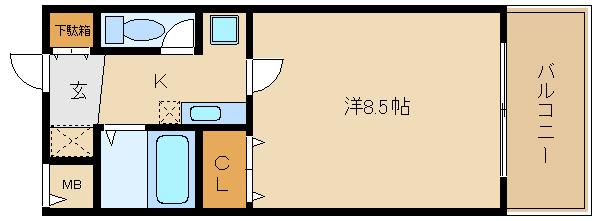 オートロック付のオール電化マンション♪ 洋室も8.5帖もあり、広いですよ!!  新堂フラット